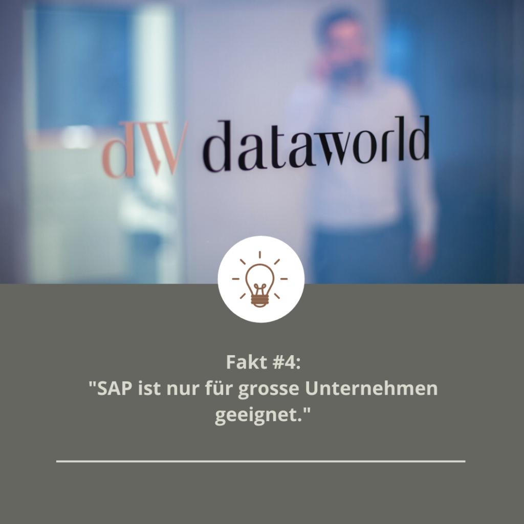 Fakt #4: SAP ist nur für grosse Unternehmen geeignet
