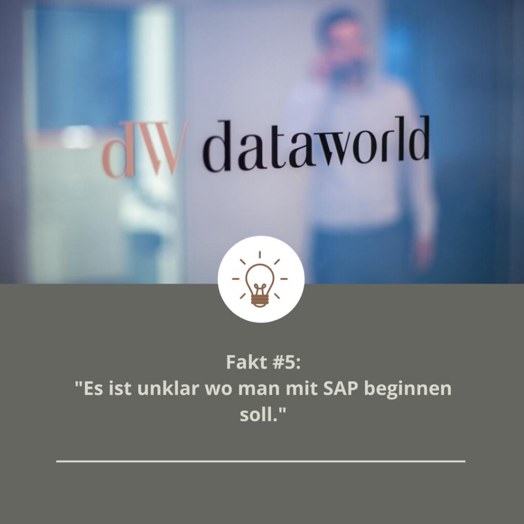 Fakt #5: Es ist unklar wo man mit SAP beginnen soll
